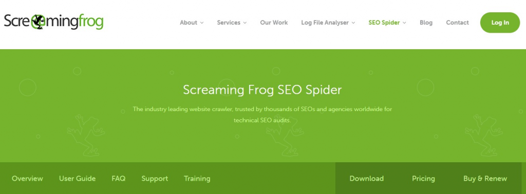 Screaming frog - technical seo tool